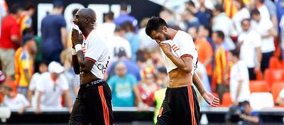 El Valencia, tras tres jornadas, sigue sin puntuar, al igual que el Celta. Foto: Twitter.