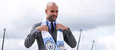 Guardiola, en su presentación como entrenador del Manchester City. Foto: Mundo Deportivo.