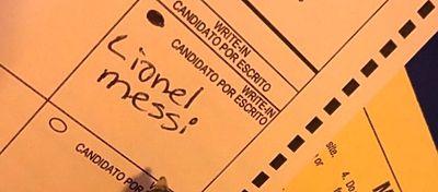 Votan a Messi como presidente de Estados Unidos