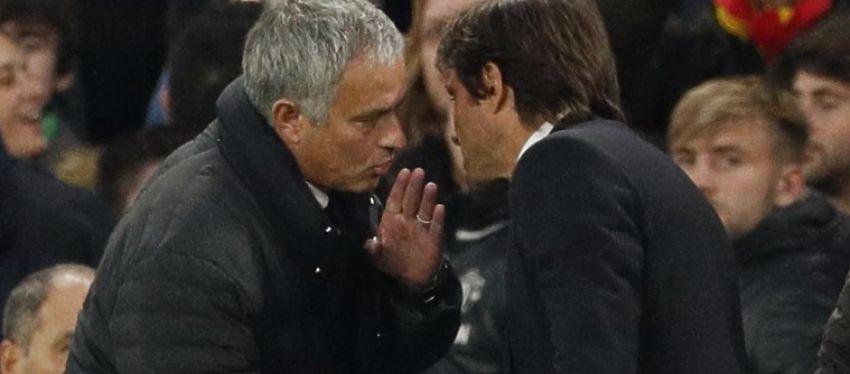 Mourinho tuvo unas palabras con Conte tras la derrota ante el Chelsea. Foto: Twitter.
