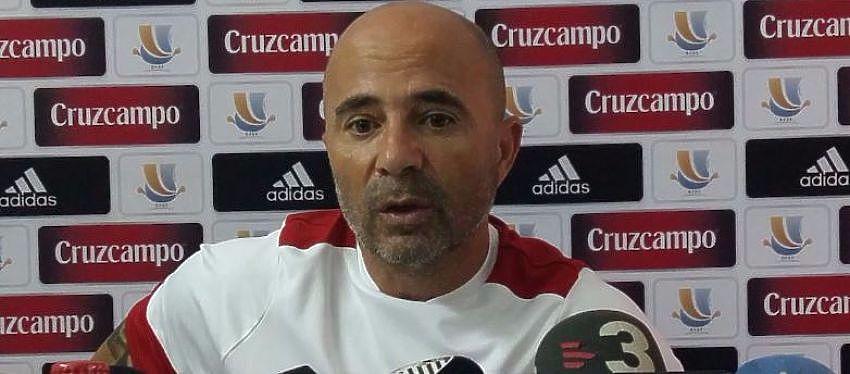 Jorge Sampaoli en rueda de prensa hoy | Foto: Sevilla Fc