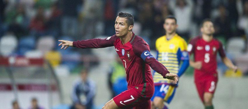 Cristiano Ronaldo fue el gran protagonista ante Andorra. Foto: Antena3.
