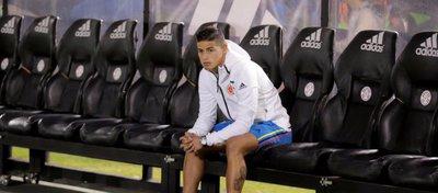 James Rodríguez no está dispuesto a seguir en el banquillo. Foto: Marca.