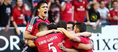 Celebración de un gol del Osasuna CF | Foto: @CA_Osasuna