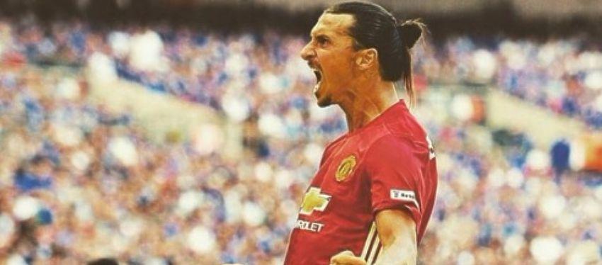 Ibrahimovic celebra un gol con el Manchester United. Foto: Instagram.
