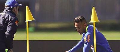 Neymar durante una sesión de entrenamiento |Foto: @neymarjr