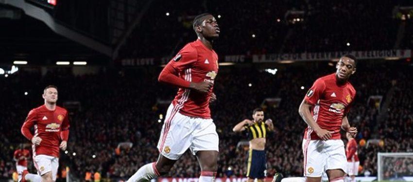 Pogba ya empieza a carburar con el Manchester United. Foto: @golcaracol.