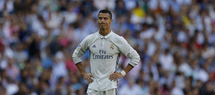 Cristiano se lamenta en el partido ante el Eibar. Foto: @mundodeportivo.