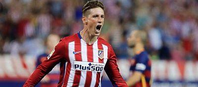 Fernando Torres celebra un gol ante el FC Barcelona. Foto: Twitter.