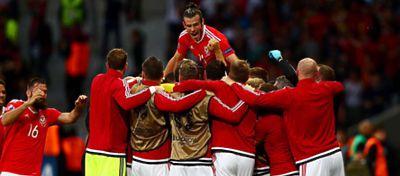 La selección de Gales celebra uno de los goles |Foto: @Gales_es