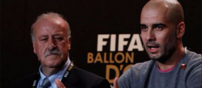 Vicente del Bosque y Pep Guardiola