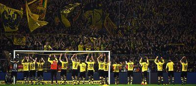 El estadio del Dortmund volverá a ser una caldera en una noche de Champions. Foto: Twitter.