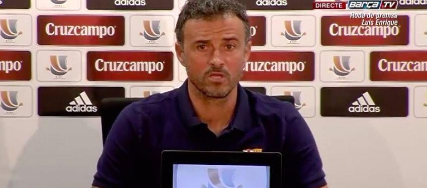 Luis Enrique en rueda de prensa. Foto: Barça TV.