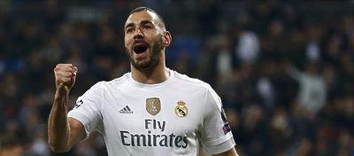 Benzema celebra un gol con el Real Madrid. Foto: Twitter.