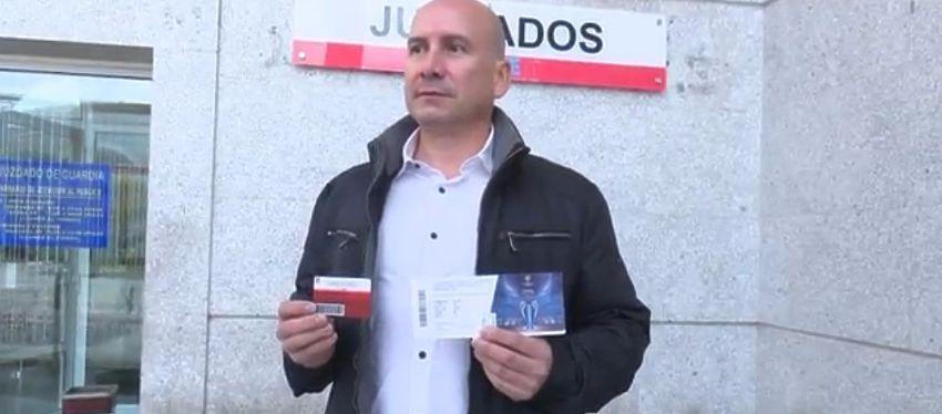 José Antonio Campón ha decidido reclamar a la justicia el gol de Ramos en la final de Milán. Foto: As TV.