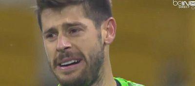 Fabri no aguantó la dolorosa derrota que privó al Besiktas de estar en los octavos de final. Foto: BeIN Sport.