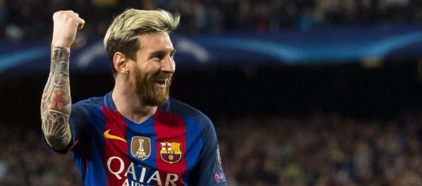 De marcar dos goles ante el Monchengladbach, Messi igualaría los once goles de Critiano en una fase de grupos. Foto: FC Barcelona.