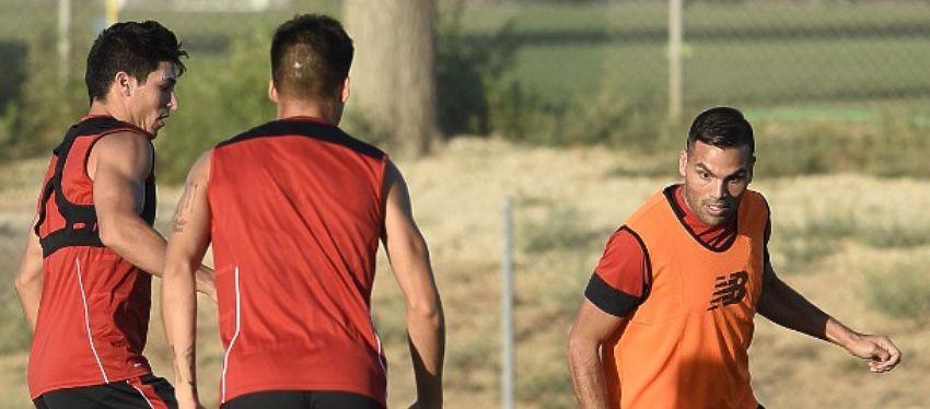 El Sevilla espera levantarse tras caer ante el Madrid en la Supercopa de Europa. Foto: Twitter.