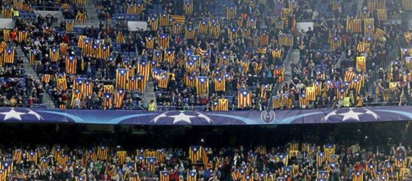 Así lucía la grada del Camp Nou el pasado martes frente al Celtic. Foto: Twitter.