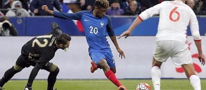 Kingsley Coman (32.8 km/h) es el jugador de esta Eurocopa que mayor velocidad ha registrado en un partido. Foto: Instagram.