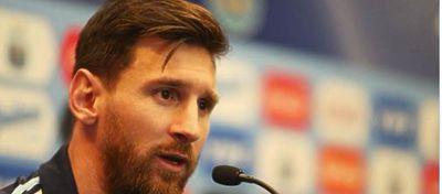 Leo Messi en rueda de prena | Foto: @Argentina