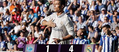 Cristiano Ronaldo celebra el 1-4 | Foto: Twitter