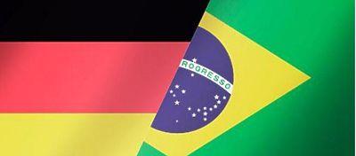 Banderas de Alemania y Brasil