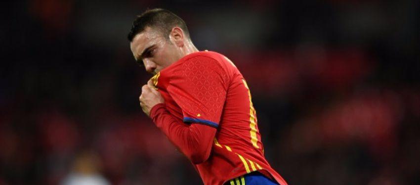Iago Aspas celebró a lo grande su debut con España. Foto: @carrusel.
