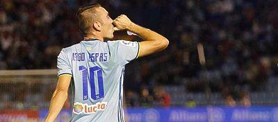 Iago Aspas dedica un gol a su hijo. Foto: RC Celta.