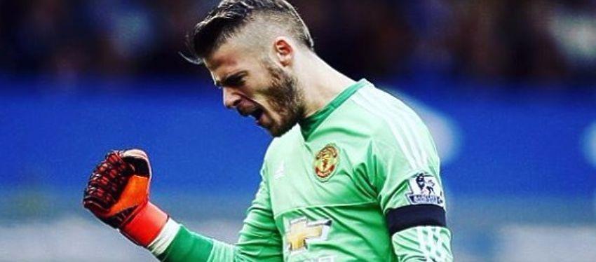 De Gea celebra un gol con el Manchester United. Foto: Instagram.