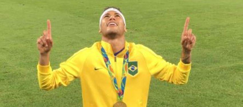 Neymar durante la final de Rio   Foto: @neymarjr