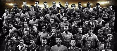 Estos son los 55 nomidados al mejor once del año. Foto: Twitter.