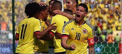 James celebra un gol con la selección colombiana. Foto: Instagram.
