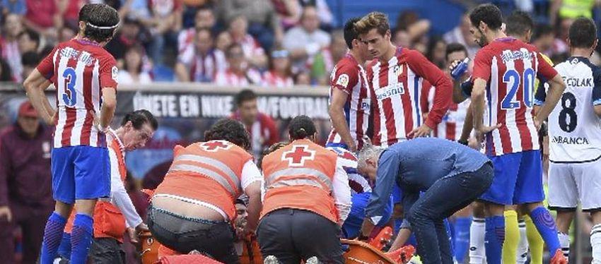 Los jugadores del Atlético de Madrid se interesaron por el estado de su compañero Augusto. Foto: @diarioole.
