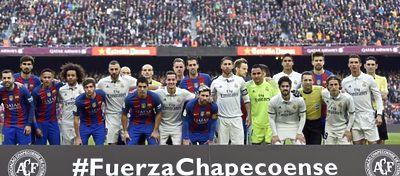 El mundo del fútbol sigue mostrando su solidaridad hacia el Chapecoense. Foto: Twitter.