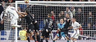 El Deportivo, que consiguió darle la vuelta al partido, murió en el último segundo con el tanto de Ramos. Foto: Marca TV.