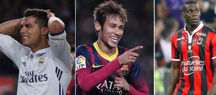 Los contratos de Cristiano Ronaldo, Neymar y Balotelli esconden claúsulas muy llamativas.