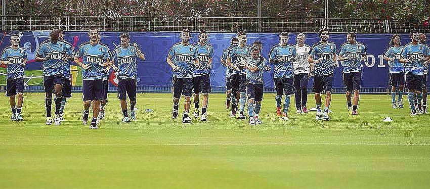 Entrenamiento selección italiana fútbol | Foto: @Vivo_Azzurro