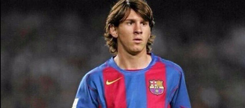Messi, en la temporada de su debut con el primer equipo. Foto: @teamlionelmessi.