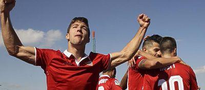 Sarabia fue quien dio la tan esperada victoria al Sevilla fuera del Pizjuán. Foto: @conectasevilla.