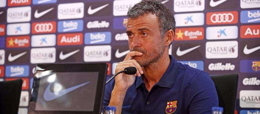 Luis Enrique en rueda de prensa. Foto: FC Barcelona.