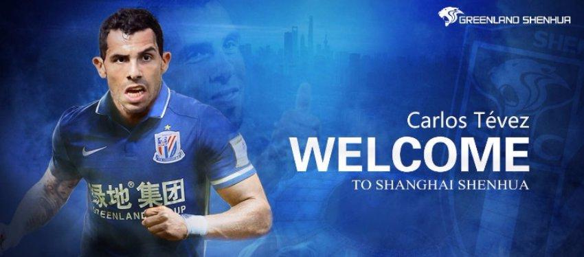 Tévez, la nueva estrella de la Superliga china. Foto: Twitter.