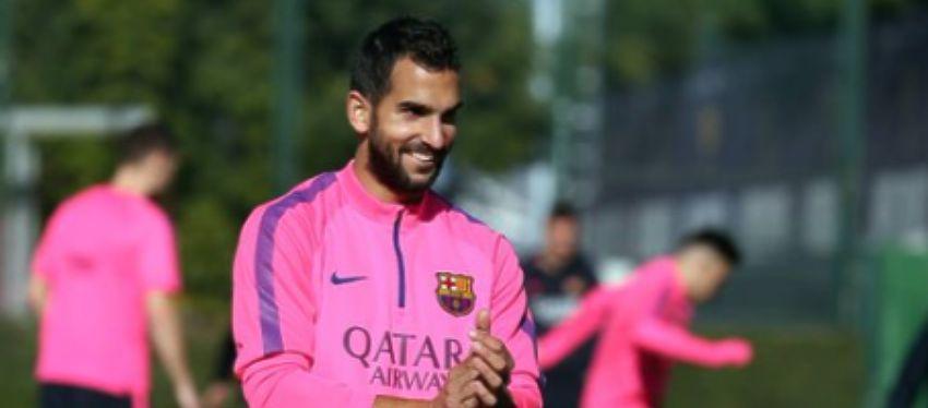Martín Montoya durante un entrenamiento | Foto: Twitter