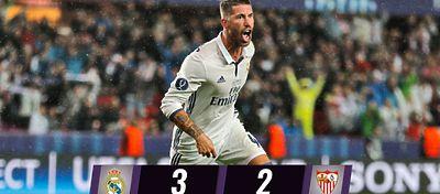 Sergio Ramos marca el gol del empate |Foto: @realmadrid