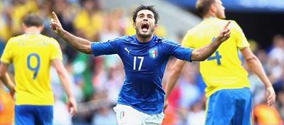 Eder celebrando el gol marcado en el minuto 88 | Foto: @Vivo_Azzurro