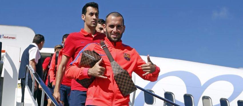 Aleix Vidal será la principal novedad del Barça en la segunda jornada de Champions. Foto: Twitter.