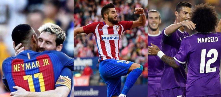 Barça, Atlético y Real Madrid no dieron opción a sus rivales en la octava jornada de Liga.