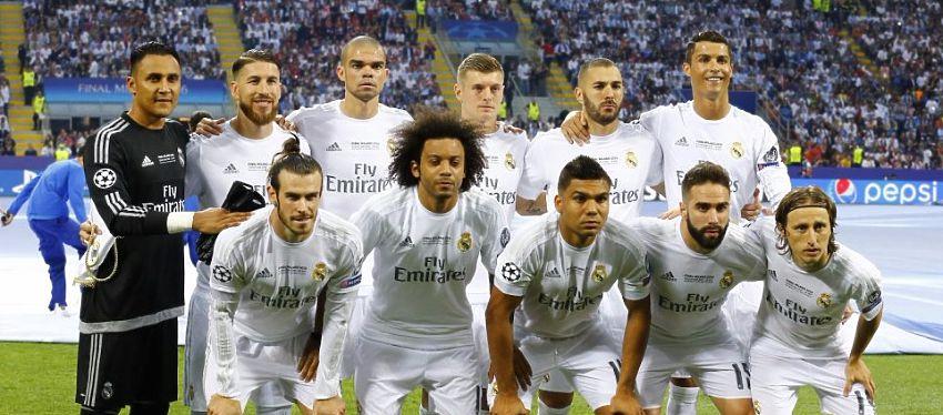 Zidane podría repetir la alineación de la final de la Liga de Campeones ante el Atlético. Foto: Twitter.
