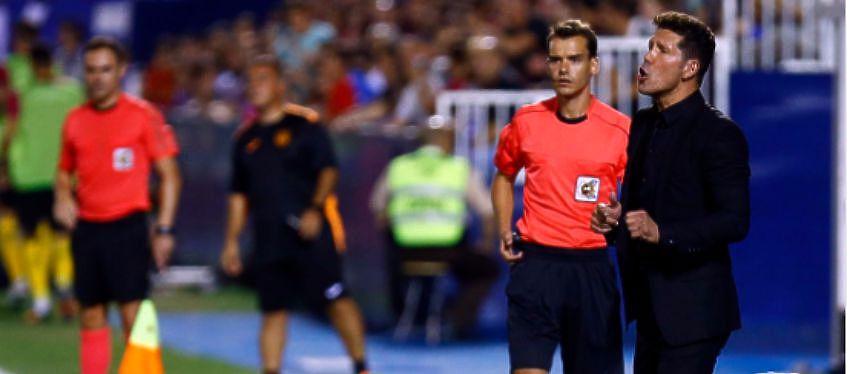 Diego Simeone durante el partido |Foto: @Atleti
