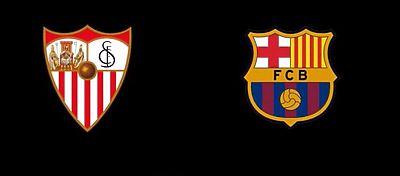 Escudos de Sevilla Fc y Fc Barcelona - Foto: Youtube